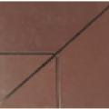 плитка 4 х составная бордо