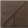 плитка 4 х составная коричневый